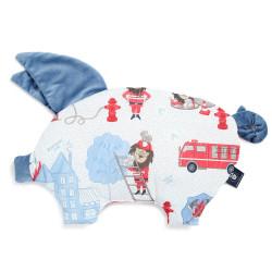 Polštář pro děti SLEEPY PIG PILLOW DENIM modrý 30x45 cm