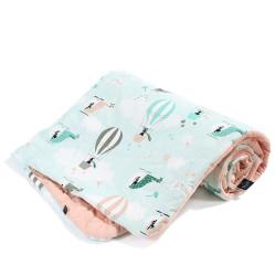Dětská hrací deka MISS CLOUDY růžová 110x140 cm