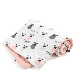 Dětská hrací deka DOGGY UNICORN růžová 110x140 cm