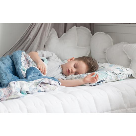 Dětská hrací deka IRIS SORBET HARVARD BLUE 110x140 cm