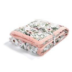 Ultra měkká deka WILD BLOSSOM růžová 140x200 cm