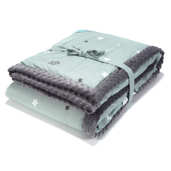 Ultra měkká deka UNICORN RAINBOW KNIGHT šedá 140x200 cm