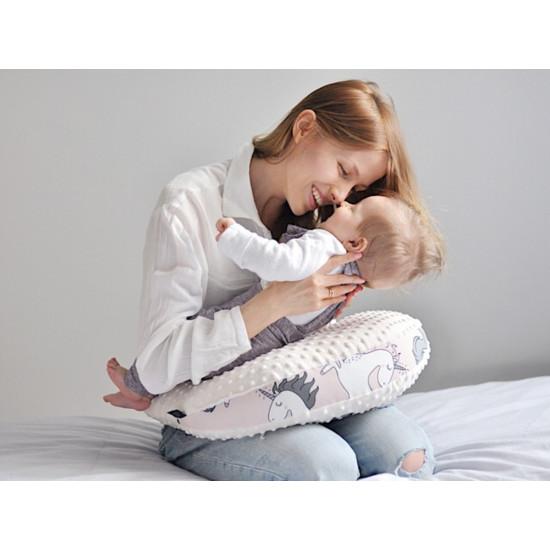 Polštář podkova na kojení GRANDMA DANA'S HEN PARADISE malinový 50x40 cm